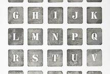alfabety litery cyfry