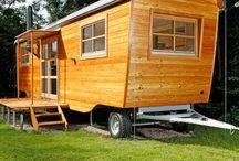 minihäuser und Wohnwagen