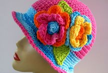 Colourful Hats / Sewn, crocheted, knit, embroidered, sequined, beribboned, embellished, colour-soaked hats of all sizes and shapes