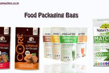 Foodpackagingbags / We stock Stansd up Pouches, Stand Up Zipper Pouches, Resealed Stand Up Pouches , Recloseable Stand Up Pouches with option of Flexographic printing and Gravure Printing pouches in multi-color printing specially for Food Products Packaging.