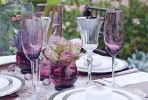 Purple Tablescapes