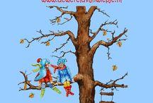 kinderen / illustraties uit het liedjesboek 'k zing een liedje voor jou, ontwerp: wieneke van leyen www.dewereldvanwiepje.nl