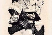 Samurai Helmet for tattoo