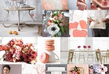 Wedding Palette CORAL , GRAY & PINK / Wedding Palette CORAL , GRAY & PINK