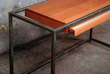 Steel frame minimal desk