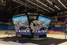 Sporting LED Signs / Sporting LED scoreboards, ribbon fencing, perimeter fencing