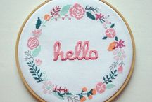// CROSS STITCH'D + EMBROIDERY //