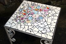 mosaic furniture and walls