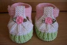 sapatinhos de tricô