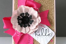 Cardstock Flowers / by Core'dinations