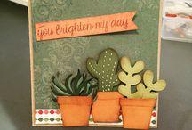 Kaart met cactus