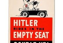 Rideshare propaganda / Rideshare propaganda from the World War II era.