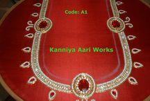 kanniya aari works / these works are done by kanniya aari works
