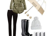 Rainy outfits
