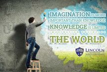 The only limit to success is your own imagination. Presented by www.lincoln-edu.ae