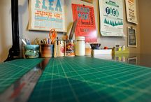Behind the scenes in the linenlaid&felt studio / A behind-the-scenes glimpse into the bookbinding studio of Katie Gonzalez in Nashville, Tennessee.