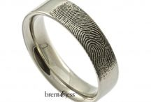 Fingerprint wedding rings / Custom handmade fingerprint rings