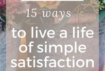 Simple Living / Simple living tips for people who like to live frugally and save money. Learn how to budget for a happier, frugal lifestyle.