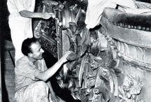 Restauration de la salle du Palais Garnier août 1963