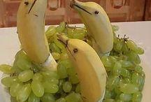 gyümölcs díszek