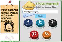 Push Butonlu Sosyal Medya ve E-posta abonelik eklentisi