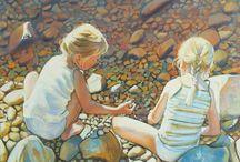 Art by Joonas Vähäsöyrinki / Finnish artist Joonas Vähäsöyrinki (born in 1973) in known for his  portraits of children and landscapes.