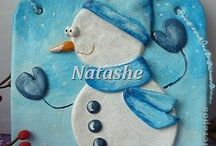 Солёное тесто к Новому году и Рождеству