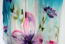 fabric hand painting