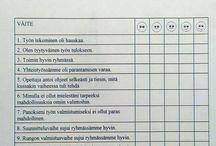 Itsearviointi/ryhmätyön arviointi