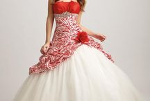 Wedding dresses - Red