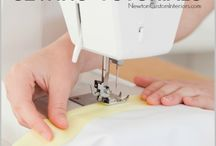 Sewing on serger