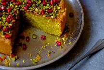 Pistacho and promegae cake