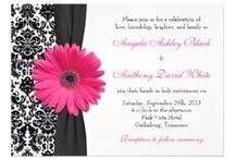 Pink and Black Wedding Invitations / Pink and Black Wedding Invitations - You can personalise your invitations