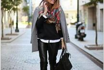 grey coat outfit