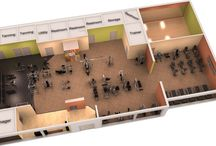 3D Gym Desings and gym plans / Design your gym, plan how your gym should look like. There are great 3D design examples that gives you ideas what to do and don't do when it comes to yours.