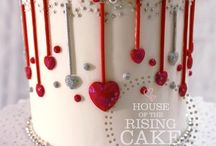 Valentines day cakes/biscuits