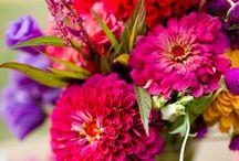 Flowers / sezonowe kwiaty, przykłady bukietów (panna młoda, druhna), aranżacja sali, kościoła, przystrojenie stołów