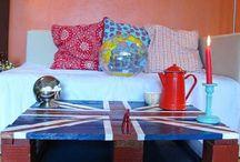 Мебель из паллет. Кофейный столик в британском стиле.