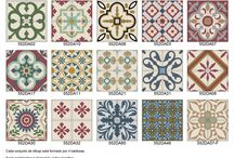 Baldosa hidráulica ▪ hydraulic ceramic / Diseños formas acabados y colorido de baldosa hidráulica. / by Loreto Diez León