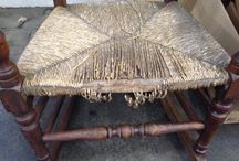 Wool winding bobbin back rocking chair