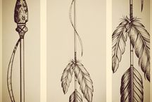 Diseño de tatuaje de flecha