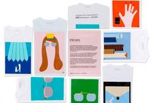 PRADA X VAHRAM MURATYAN'S T-SHIRT COLLECTION / Prada and Paris-based artist Vahram Muratyan have teamed up to create a virtual  series of illustrations of Prada's S/S 2012 men's and women's accessories. The series highlights two parallel universes that meet under the auspices of Prada style. Prada transferred the graphics from this virtual series onto unisex t-shirts, which will be available in stores mid-July priced at €150. / by Kesha Marie