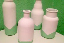 Diy / Selbstgemacht Flaschen / Deko Upcycling