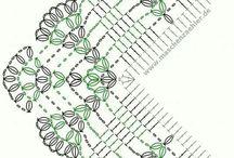 Bordi realizzati all'uncinetto