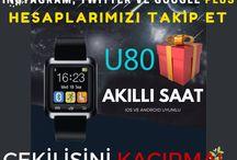 Yılbaşı Yarışmaları / Akıllı saat, harici şarj aleti, tasarım saatlerle yılbaşı heyecanını artırıyoruz... :)