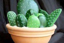 kaktus av stein