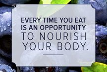 Food as nourishment / Healthy foods