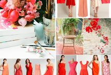 Coral Weddings / Color inspiration for brides who want the color coral in their wedding
