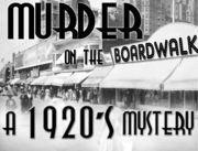 1920s Murder Mystery Party on the Boardwalk - Murder Mystery Party / A Boardwalk 1920's Murder Mystery Party game for 8-12 guests - 8 required and 4 optional. The roaring twenties murder mystery party game is set at the height of prohibition on the 1920's Boardwalk at the Karlton Ritz Hotel. Choose to host this '20s murder mystery party game if you are up for loads of blackmail, deceit, intertwining relationships and murder - all packaged in a fun flapper & gangster themed murder mystery party!