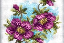 FLOWERS*CROSS STITCH